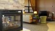 Academy Villas fireplace